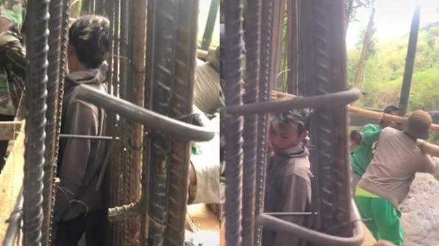 Viral Pria Terhimpit Kawat Bangunan, Publik: The Real 'Tumbal Proyek'