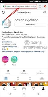 Cara Copy URL Segala Macam Postingan Dan Profil Instagram Melalui Aplikasi Web Browser