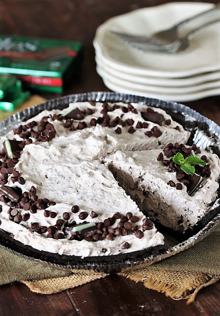 Mint Chocolate Chip Pie Made with Andes Mints Image