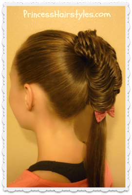 Glamorous fishtail braid ponytail hairstyle