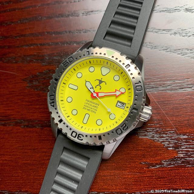 Hawaiian Lifeguard Association Watch yellow