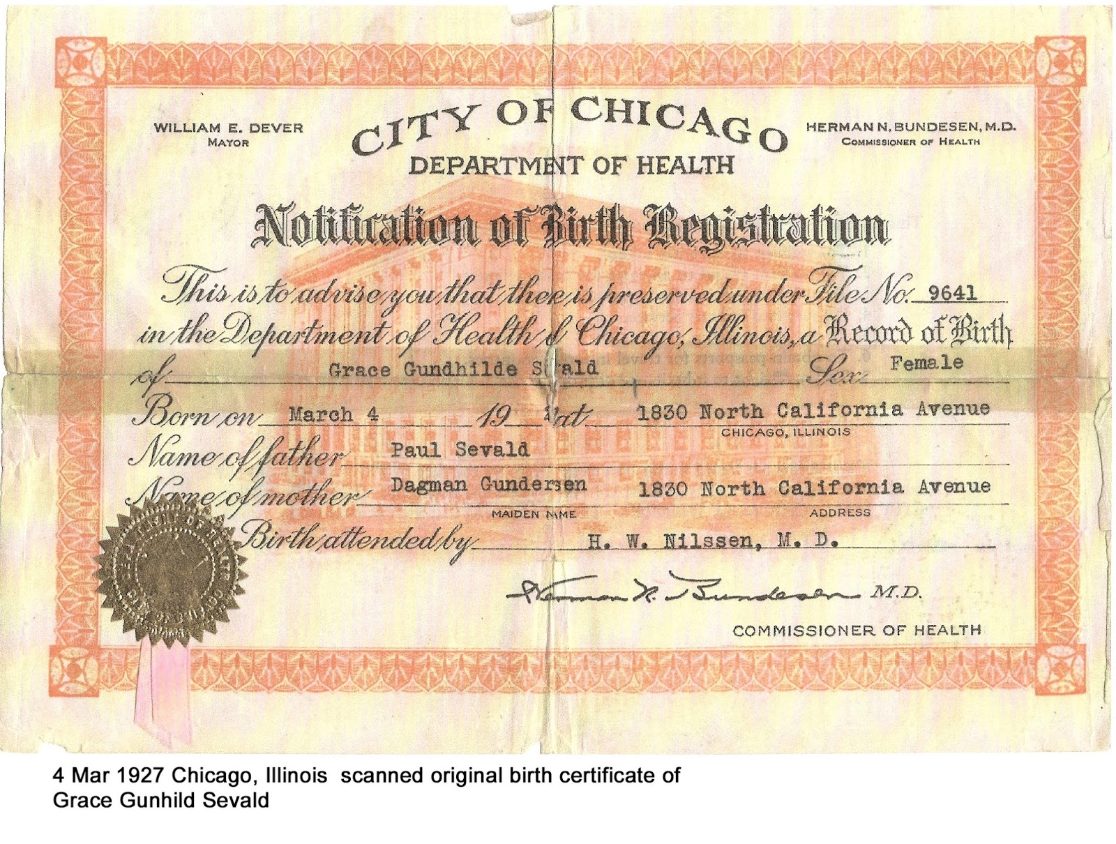 Best of image of birth certificate chicago business cards and ranae s norwegian family heritage march 2016 ranae s norwegian family heritage march 2016 from birth certificate chicago aiddatafo Choice Image