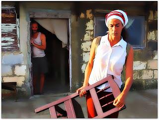 Santa y Andrés - Santa (Lola Amores) na Casa de Andrés (Eduardo Martinez)