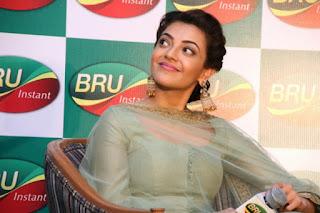 Actor Karthi Actress Kajal Aggarwal Pictures at Bru Coffee Meet 0010