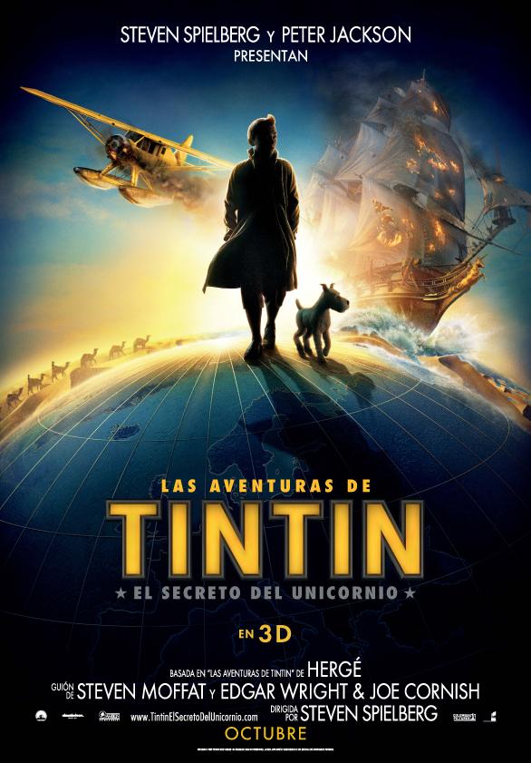 Póster de Las aventuras de Tintin. El secreto del unicornio