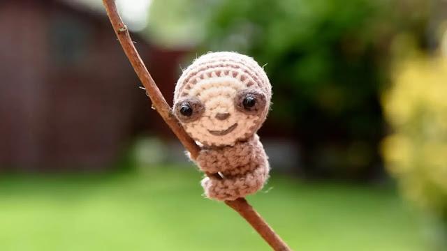 Como Tejer Mini Oso Perezoso Amigurumi a Crochet