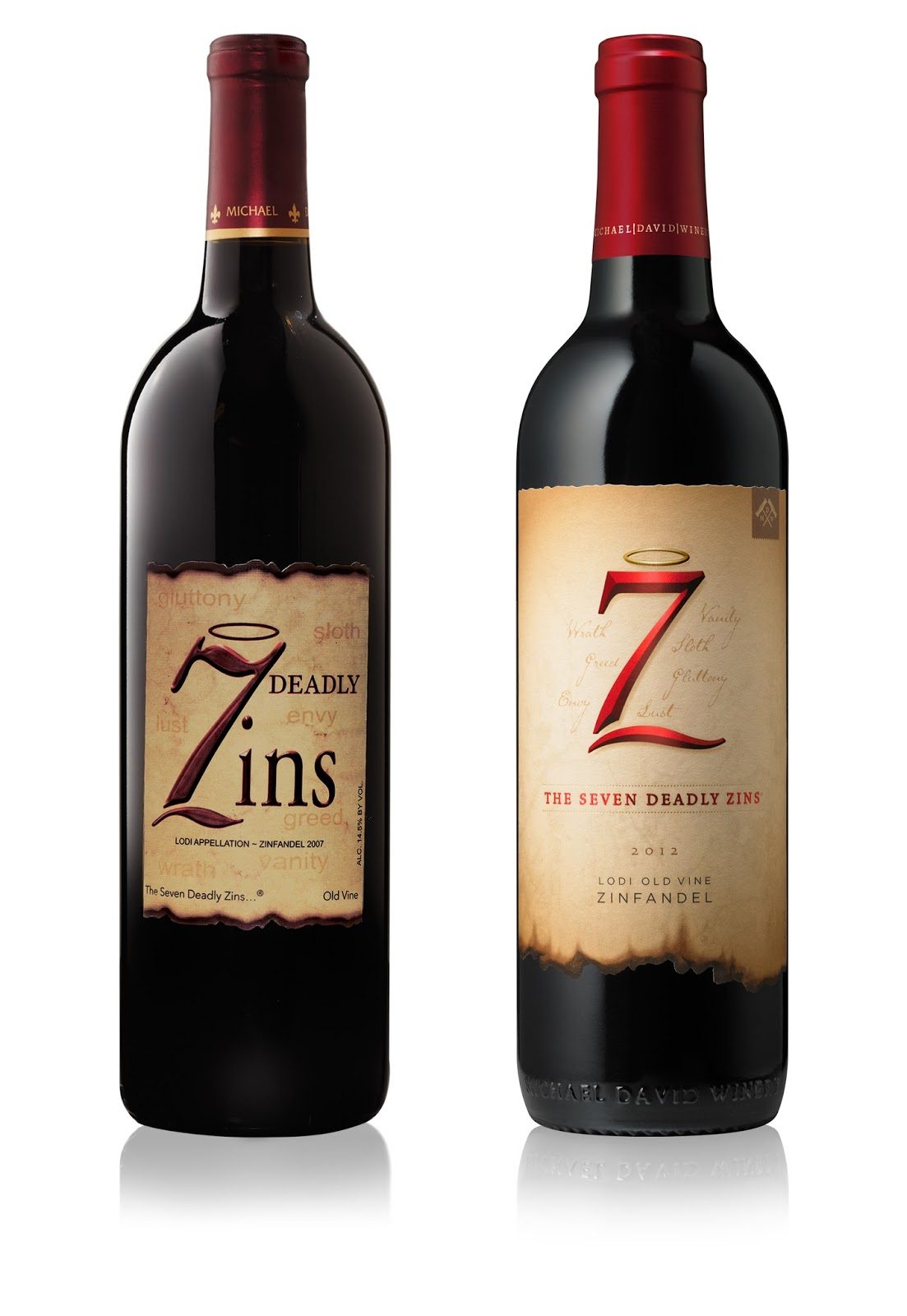 7 deadly zins on packaging of the world