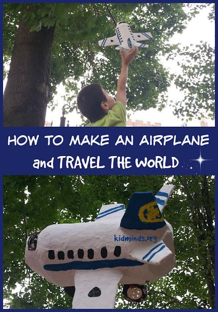 Paper Mache Airplane Kids Craft from Kid Minds