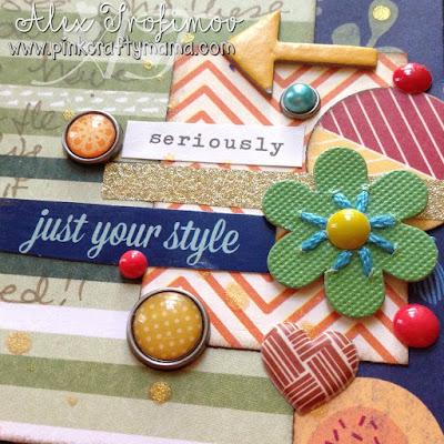 embellishment cluster scrapbook scrapbooking layout page shimelle laine design decisions class go now go collection dear lizzy lucky charm sassafras lass #designdecisionsclass
