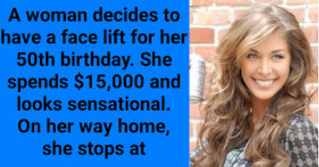 """A woman decides to have a face lift for her 50th birthday. She spends $15,000 and looks sensational.  On her way home, she stops at a news stand to buy a newspaper. Before leaving, she says to the clerk, 'I hope you don't mind my asking, but how old do you think I am?"""".  'About 32,' is the reply.'  'Nope! I'm exactly 50,' the woman says happily.  A little while later she goes into McDonald's and asks the counter girl the very same question.  The girl replies, 'I'd guess about 29.' The woman replies with a big smile, 'Nope, I'm 50.'  Now she's feeling really good about herself. She stops at a candy shop on her way down the street.  She goes up to the counter to get some mints and asks the assistant the same burning question.  The clerk responds, 'Oh, I'd say 30.'  Again she proudly responds, 'I'm 50, but thank you!'  While waiting for the bus to go home, she asks an old man waiting next to her the same question.  He replies, 'Lady, I'm 78 and my eyesight is going. Although, when I was young there was a sure-fire way to tell how old a woman was. It sounds very forward, but it requires you to let me put my hands under your bra Then, and only then I can tell you EXACTLY how old you are.'  They wait in silence on the empty street until her curiosity gets the better of her. She finally blurts out, 'What the hell, go ahead.'  He slips both of his hands under her blouse and begins to feel around very slowly and carefully. He bounces and weighs each breast and he gently pinches each nipple. He pushes her breasts together and rubs them against each other.  After a couple of minutes of this, she says, 'Okay, okay.....How old am I?'  He completes one last squeeze of her breasts, removes his hands, and says, 'Madam, you are 50.'  Stunned and amazed, the woman says, 'That was incredible, how could you tell?'  'I was behind you at McDonalds'."""