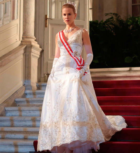 Grace Kelly (Nicole Kidman), vestido, filme Grace de Monaco
