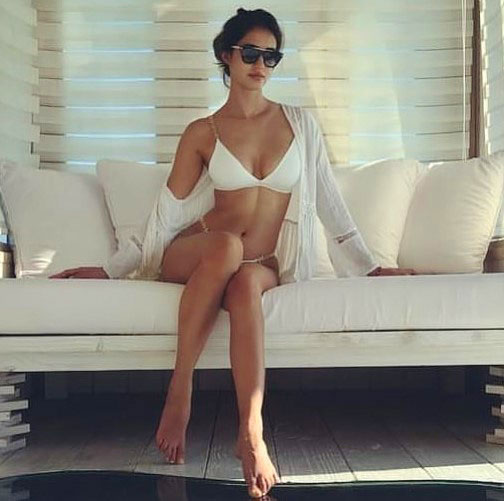 Sexy Disha Patani in white Bikini