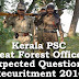 Kerala PSC - Expected Questions for Beat Forest Officer 2016 - 16