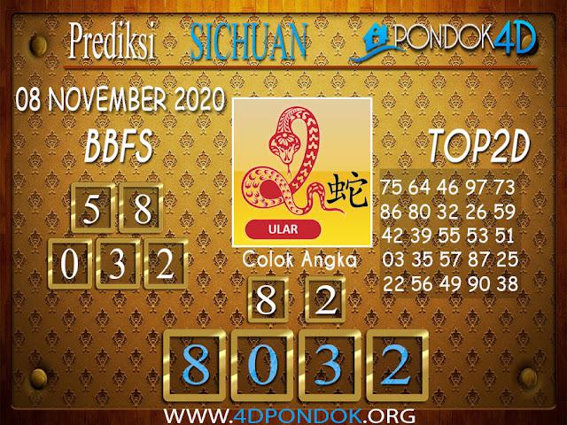 Prediksi Togel SICHUAN PONDOK4D 08 NOVEMBER 2020