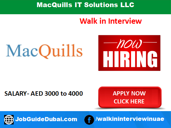 MacQuills IT Solutions LLC career for ERP Software,Accounting Software and IT Sales Executive jobs in Dubai UAE