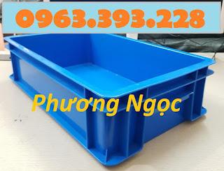 Thùng nhựa đặc B2, khay nhựa đặc, thùng nhựa công nghiệp có nắp, hộp nhựa B2