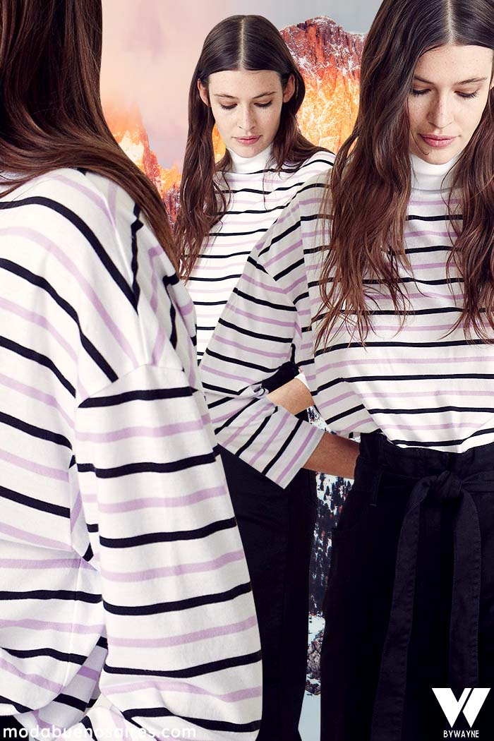 remeras a rayas invierno 2021 moda mujer
