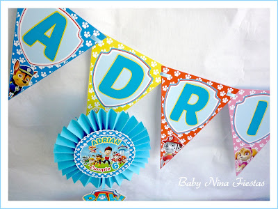 customized garland paw patrol