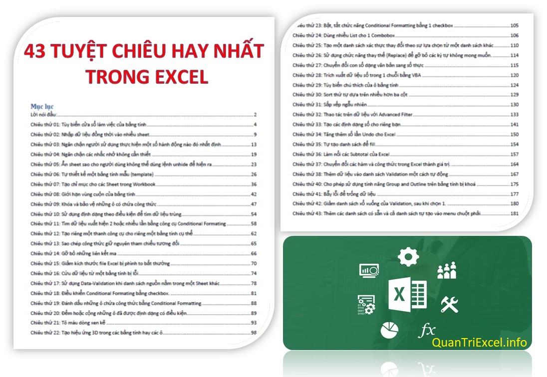 """Sách hay 2021 Tổng hợp các """"tuyệt chiêu"""" hay nhất trong Excel [Free PDF]"""