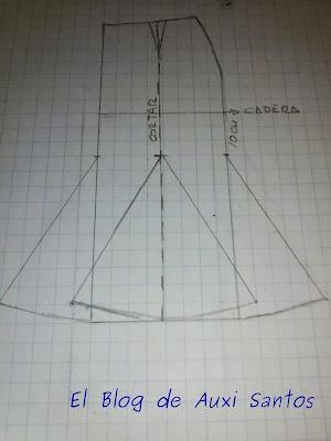 Patrón Falda de Nesgas II