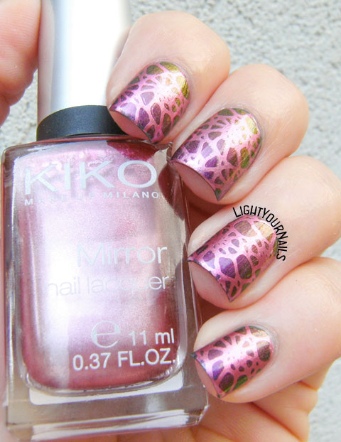 Duochrome stamping with plate BPL-028