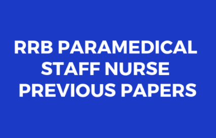 Download RRB Paramedical Previous Question Papers PDF