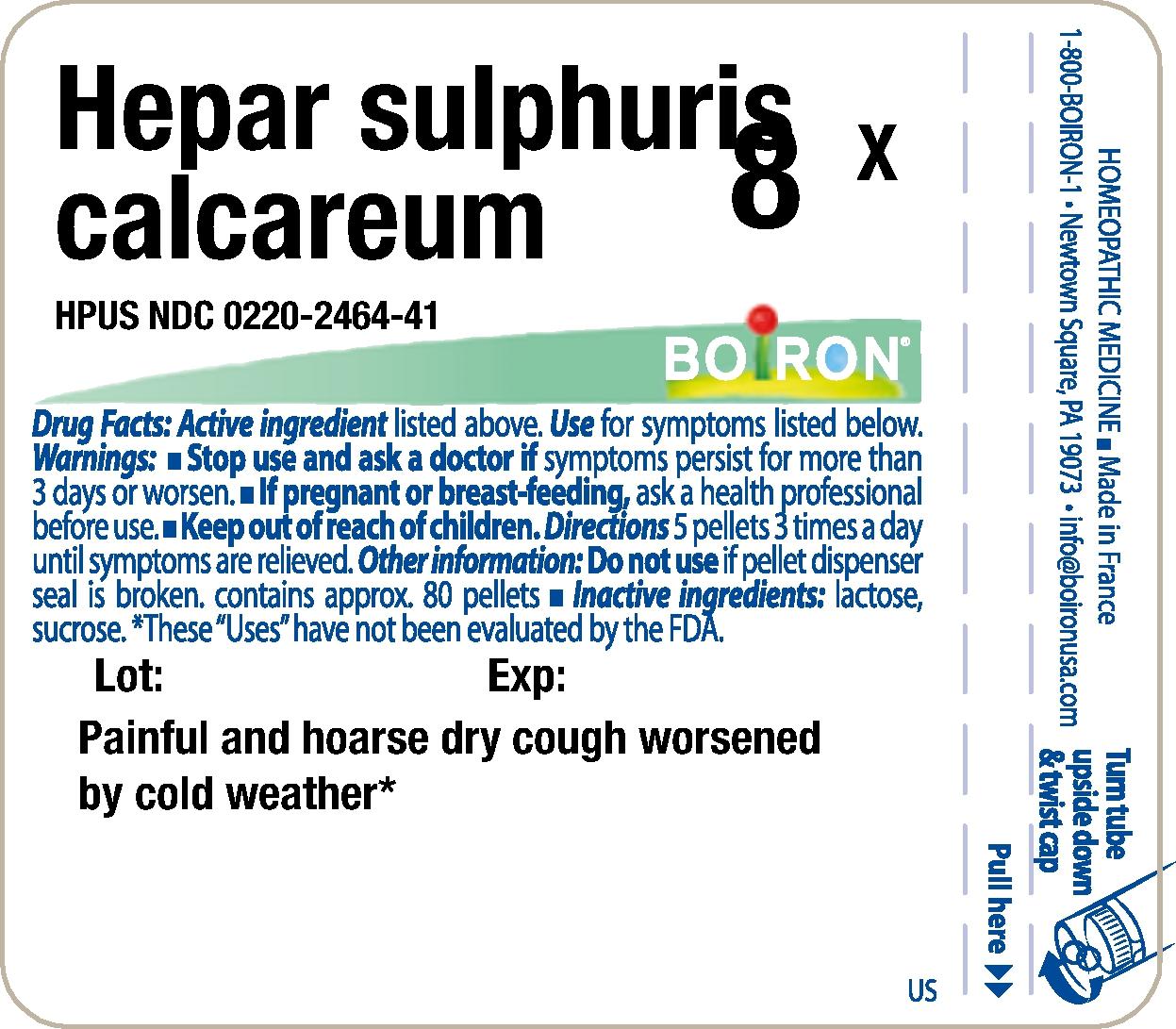 Hepar sulphuris label