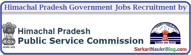 Government Jobs Recruitment by Himachal PSC