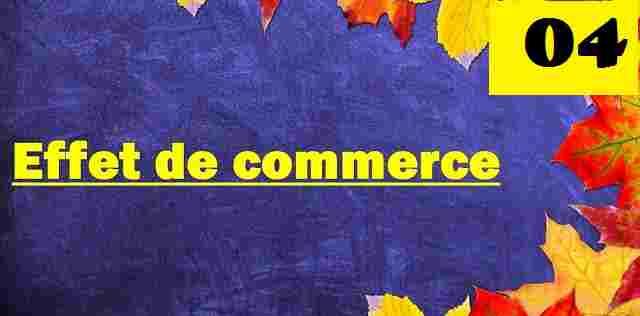 Ecriture comptable de l'effet de commerce