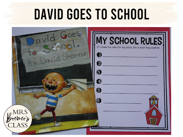 David Goes to School book study companion pack perfect for the beginning of the school year. Common Core aligned. Fun literacy activities and guided reading ideas for K-1. #bookstudy #literacy #guidedreading #backtoschool #1stgrade #kindergarten #bookstudies #bookcompanion #bookcompanions #1stgradereading #kindergartenreading