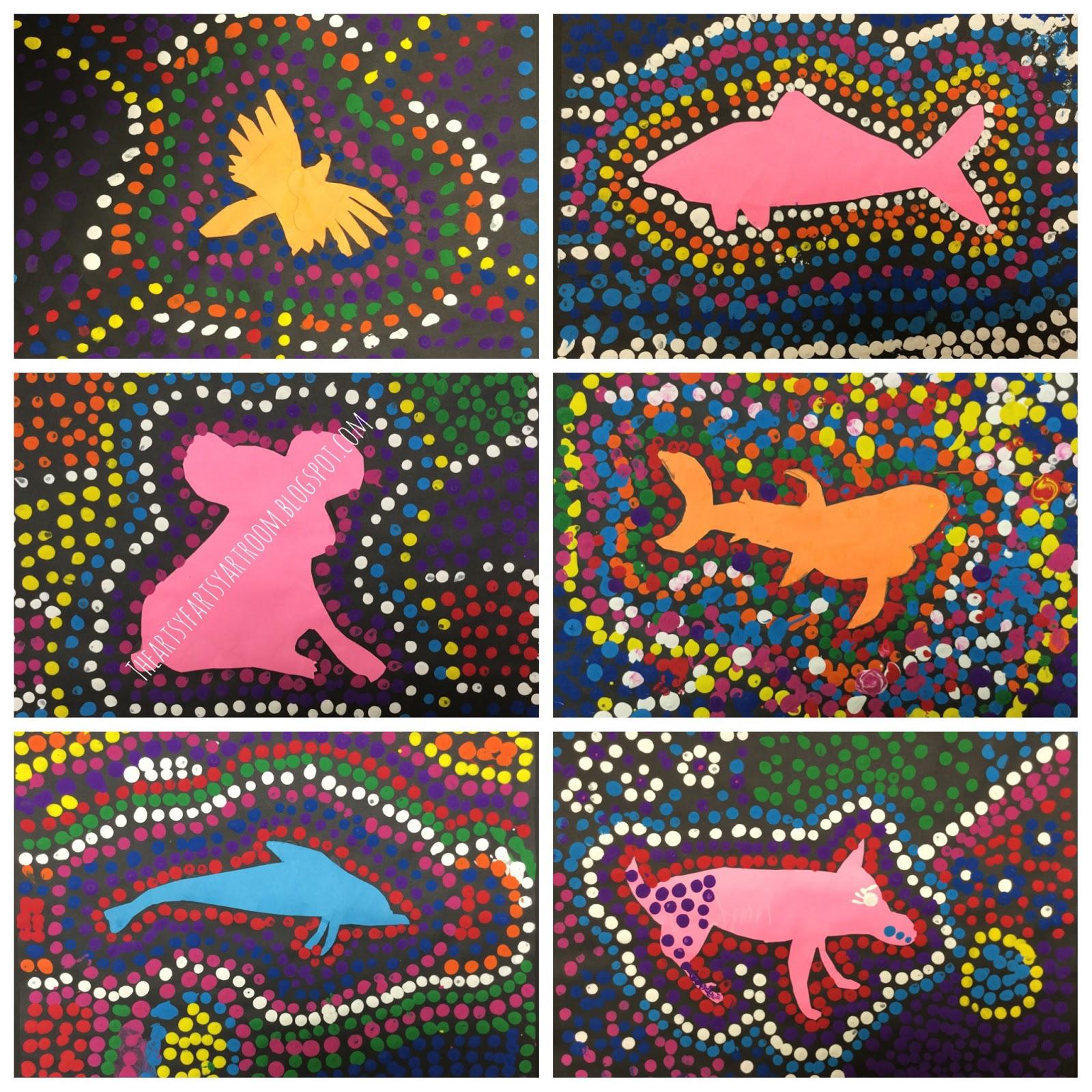the artsy fartsy art room  australian aboriginal dot art  2016
