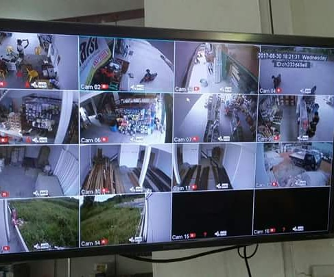 hasil monitor cctv hikvision