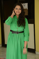 Geethanjali in Green Dress at Mixture Potlam Movie Pressmeet March 2017 050.JPG