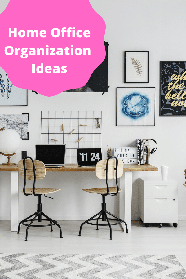 Home office organization ideas that will get you started on organizing your work space in the home, no matter the size.