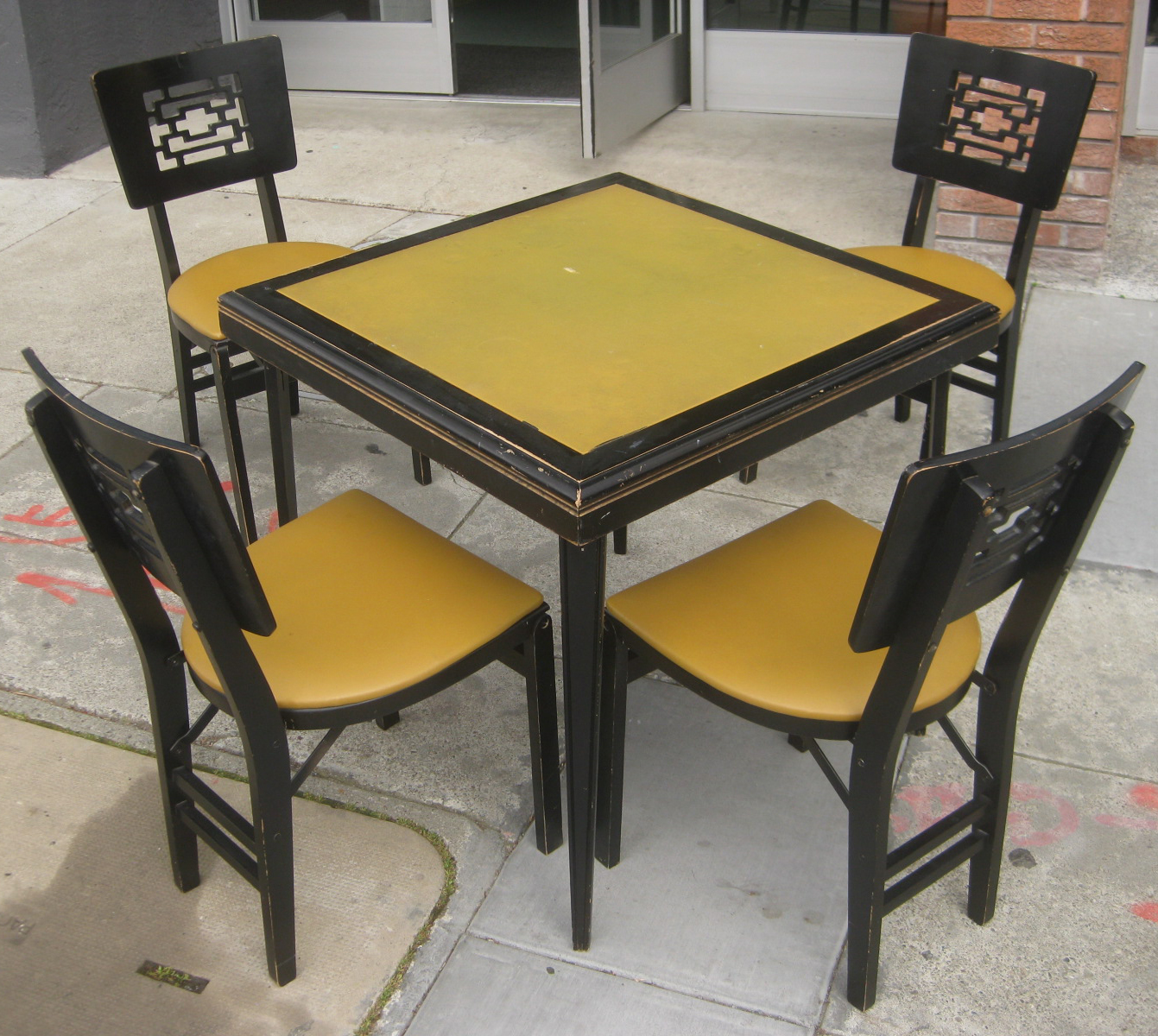 fancy folding dining chairs chair sash alternatives uhuru furniture and collectibles sold table