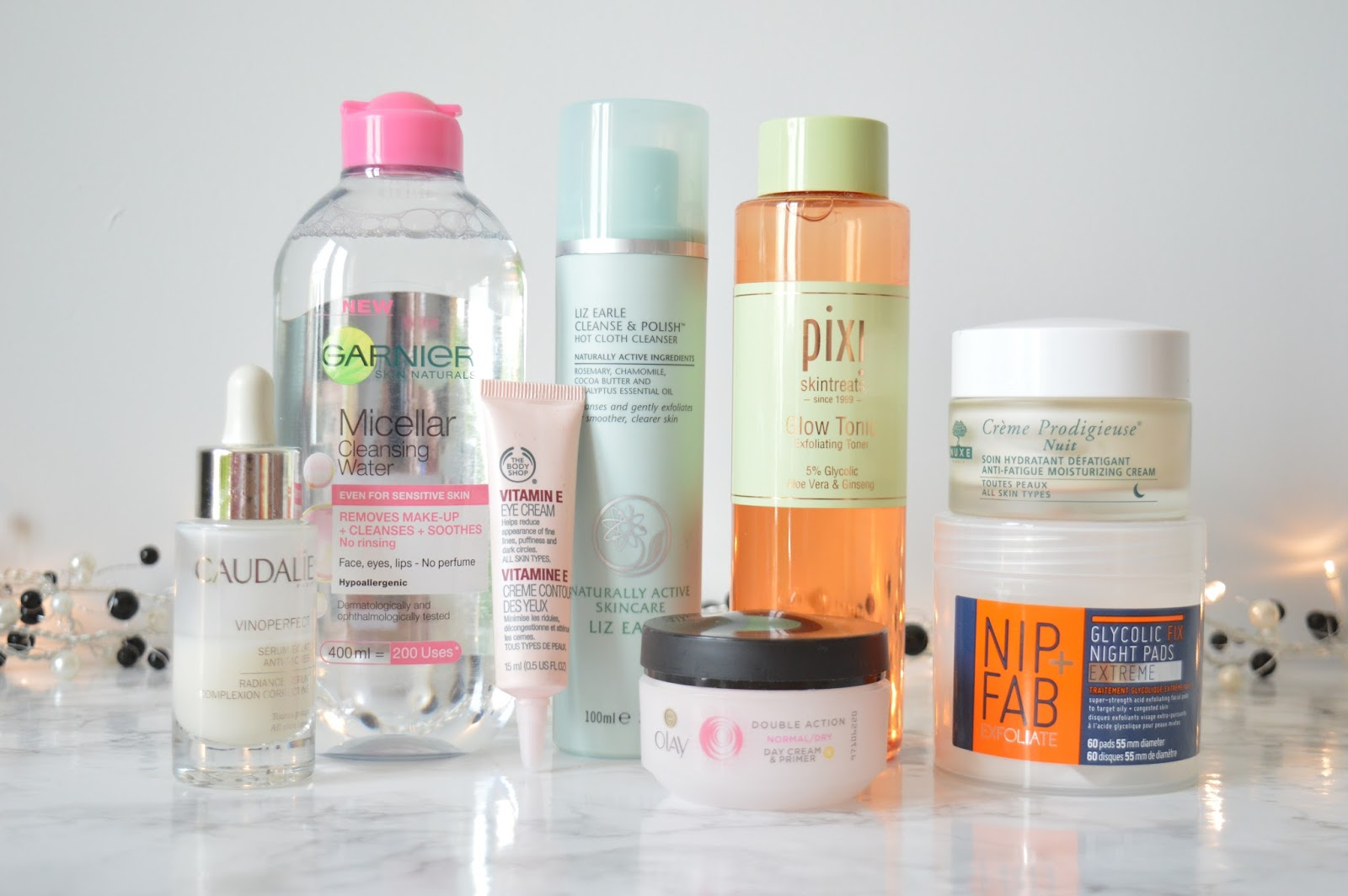 Skincare Routine featuring Caudalie, Garnie, Pixi, Nuxe and more