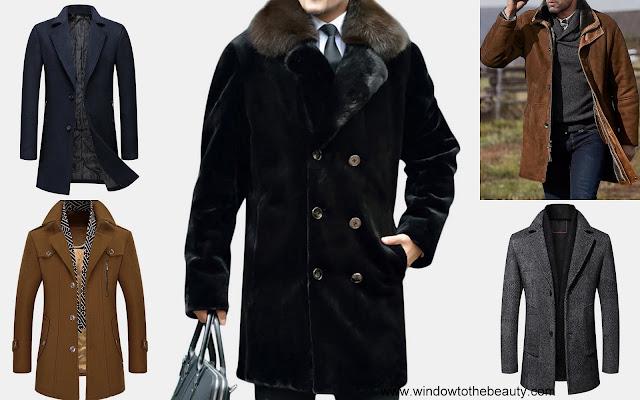 Długi męski płaszcz newchic