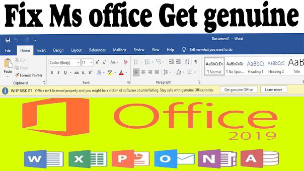 Microsoft office get genuine notification