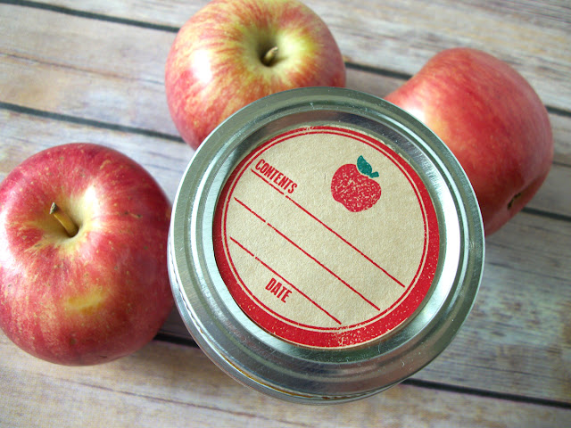 apple canning label