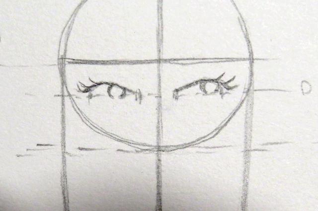 Dibujo del iris del ojo de forma circular