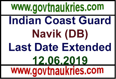Indian Coast Guard Notification 2019