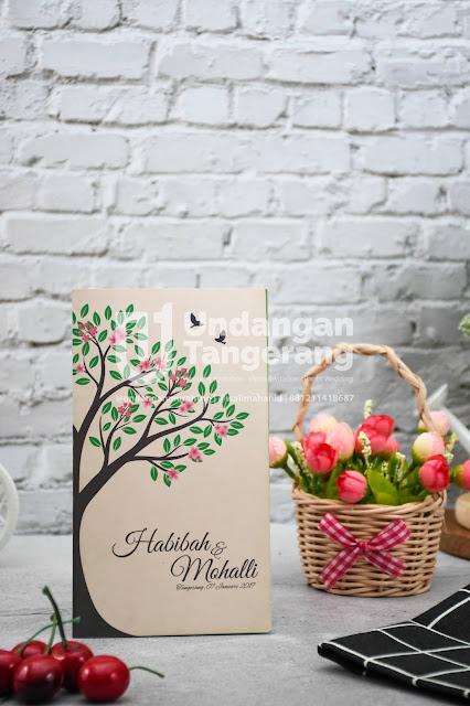 Undangan Pernikahan Murah di Tangerang dengan Tema Florist - Walimahanid | 0812-1141-8687