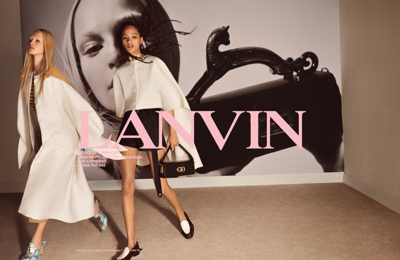 Jean & Selena Stand Out in Lanvin Spring 2020 Campaign