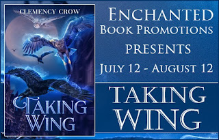 middle grade, enchanted promotions, taking wings, taking wing, taking wing book, clemency crow, middle grade adventure, clemency author kids books, kids lit