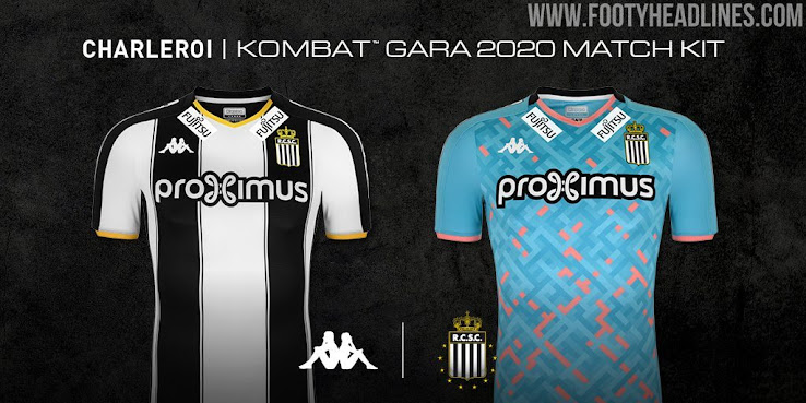 Charleroi 19 20 Home Away Kits Released Footy Headlines