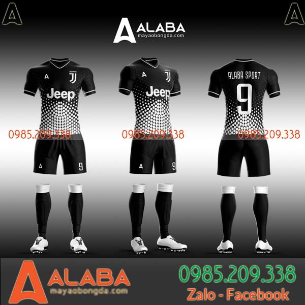Áo Juventus trắng đen 2020