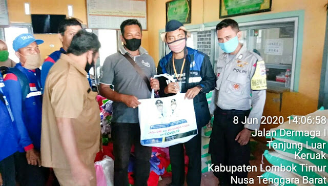 BKTM Desa Tanjung Luar Awasi Penyaluran JPS Gemilang Tahap II