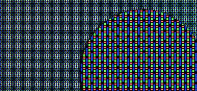 Tampilan matriks RGB pada layar OLED.