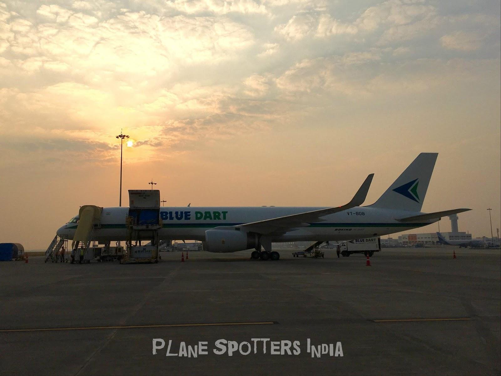 Blue Dart | Boeing 757-200PCF | VT-BDB - Plane Spotters India - www