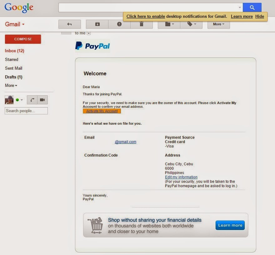 How To Sign up for PayPal - Food, Travel and Whatevs